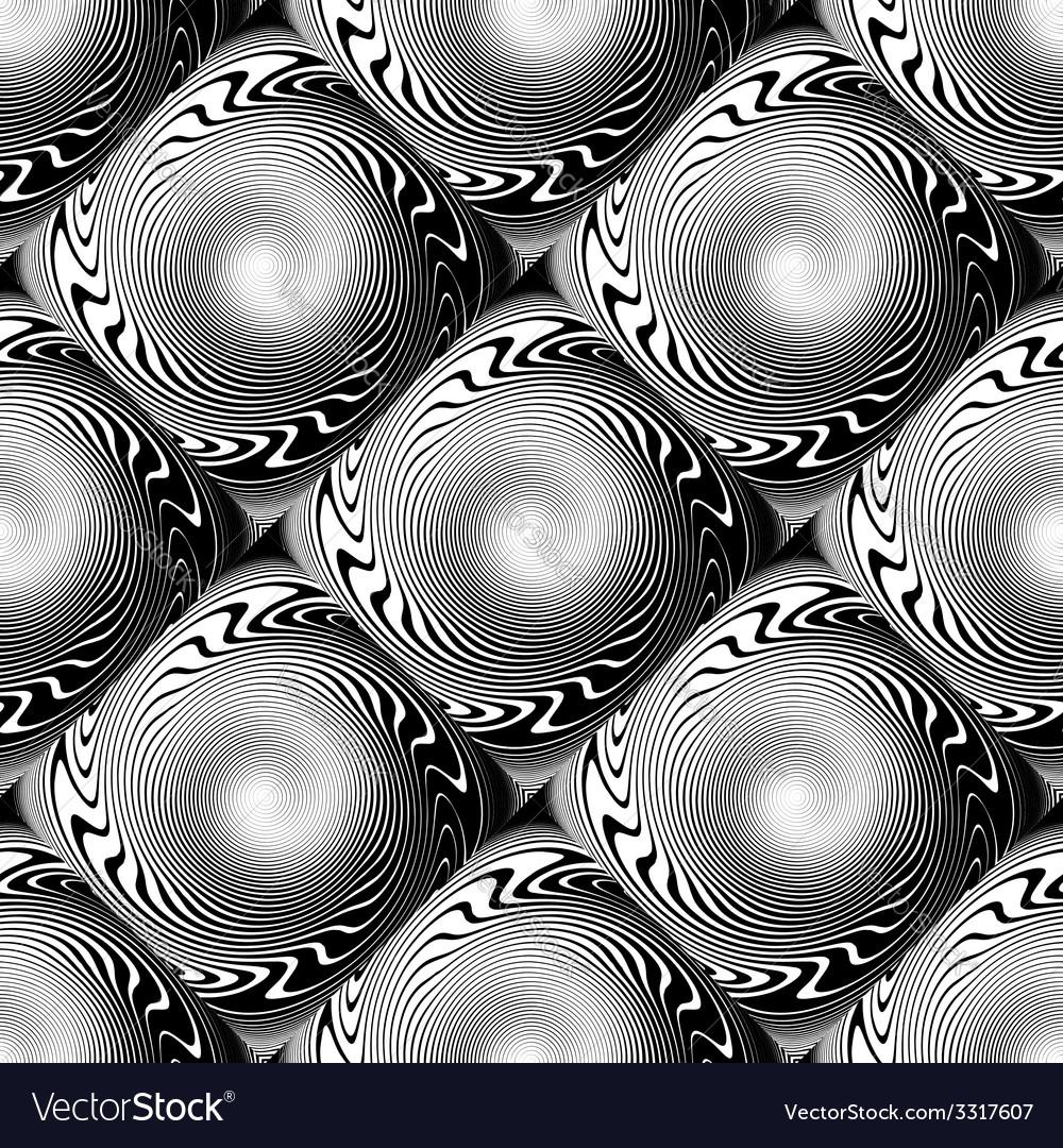 Design seamless monochrome whirl pattern vector   Price: 1 Credit (USD $1)