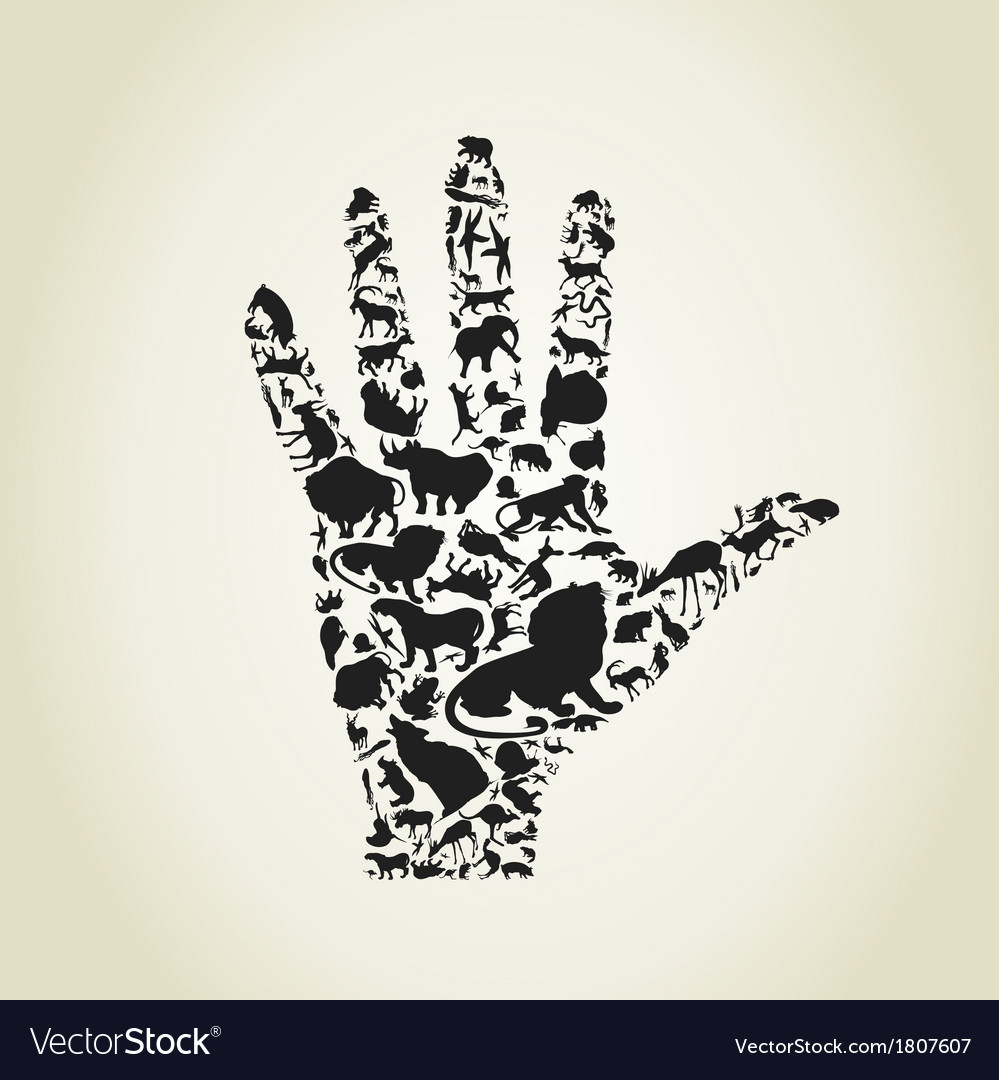Hand an animal vector | Price: 1 Credit (USD $1)