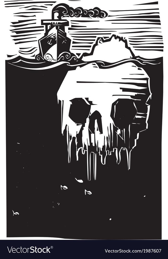 Iceberg skull vector | Price: 1 Credit (USD $1)
