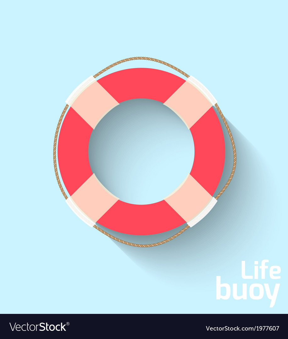Life buoy in flat style vector | Price: 1 Credit (USD $1)