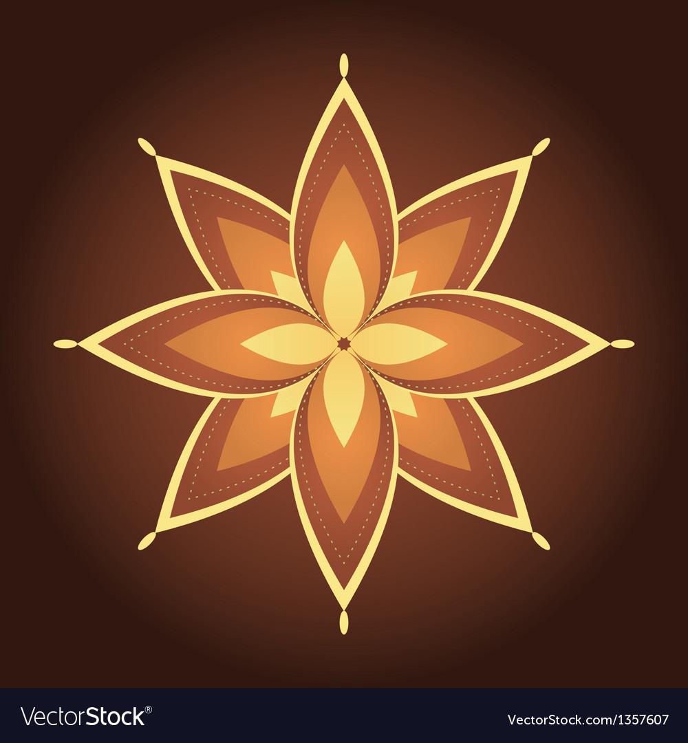 Mandala decorative flower vector | Price: 1 Credit (USD $1)