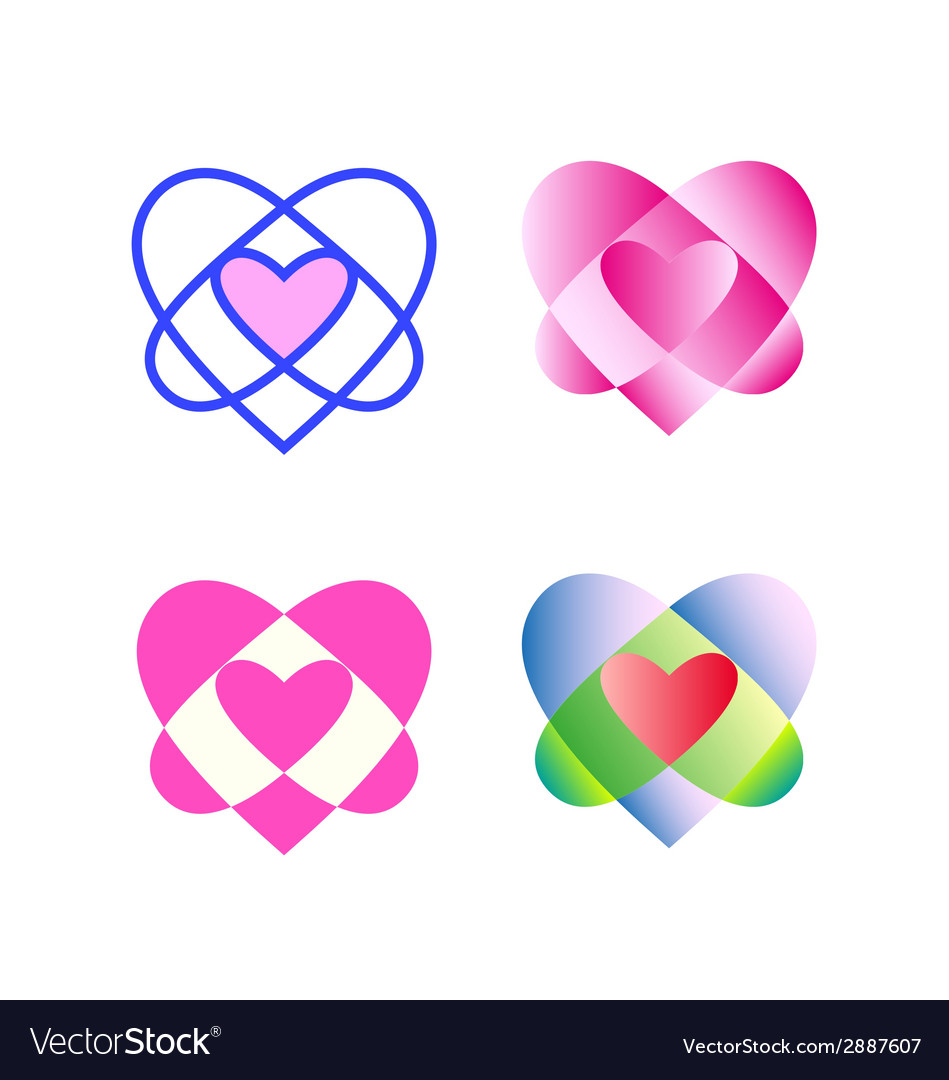 Original geometric heart vector | Price: 1 Credit (USD $1)