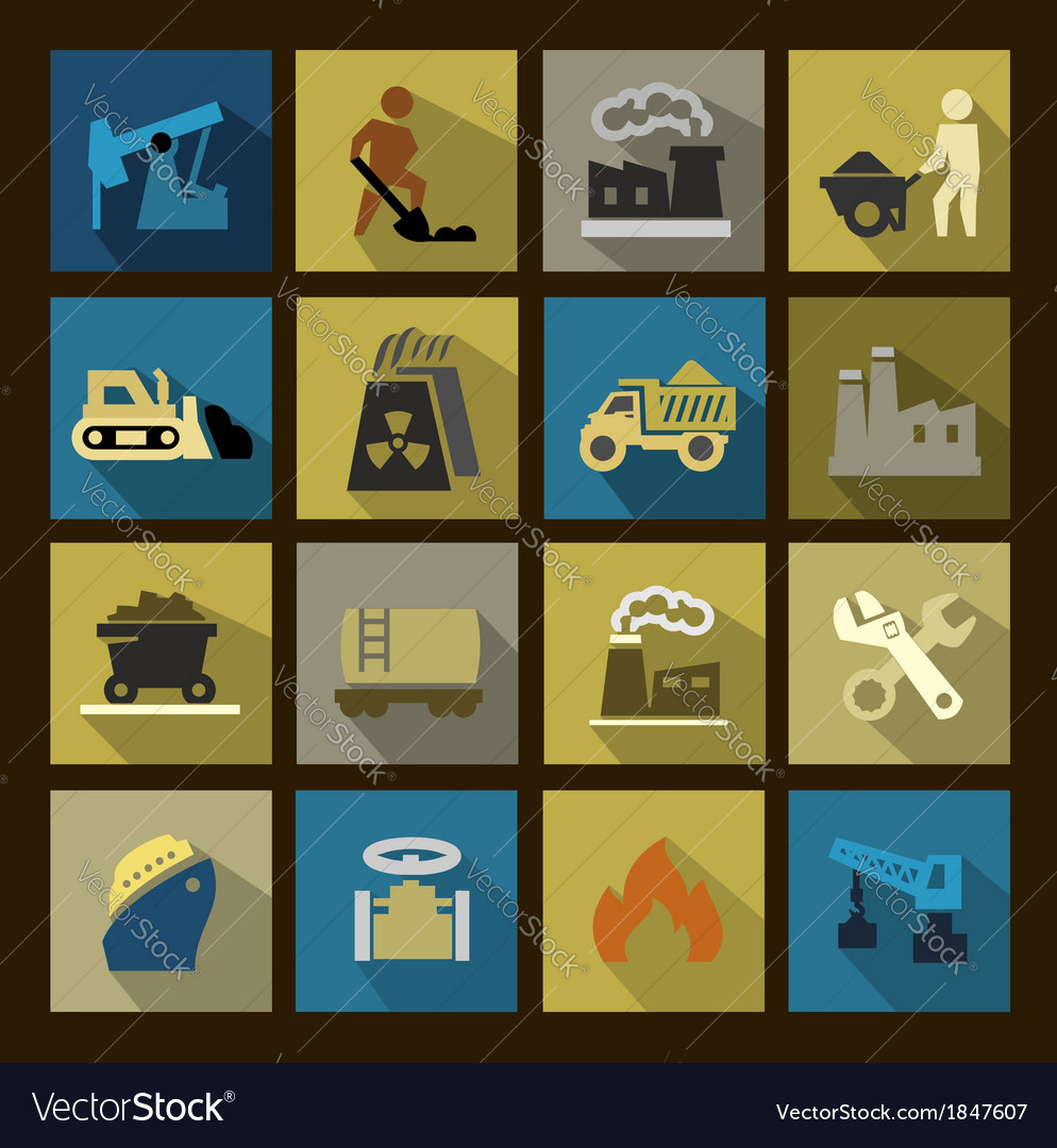 Power generation icons set vector   Price: 1 Credit (USD $1)