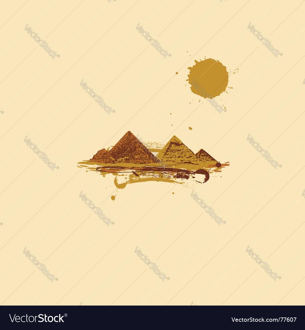 Pyramid in desert vector | Price: 1 Credit (USD $1)