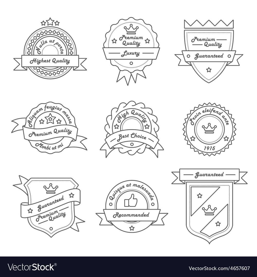 Set of monochrome label logo and badge vector | Price: 1 Credit (USD $1)