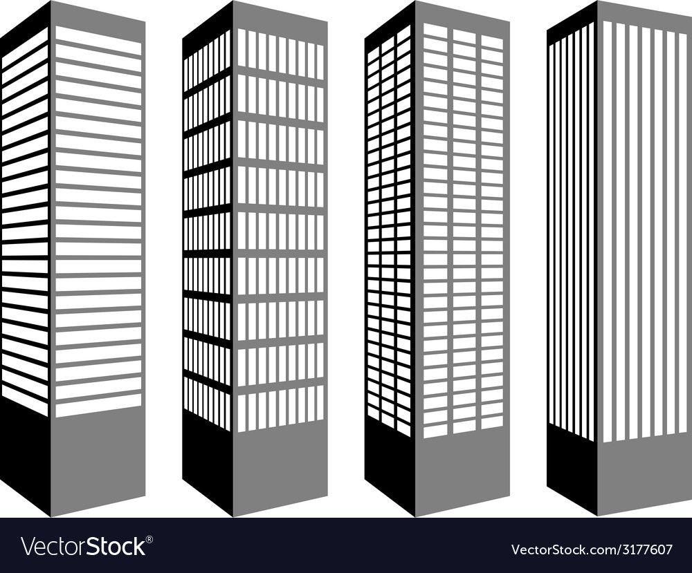 Skyscraper symbols vector | Price: 1 Credit (USD $1)