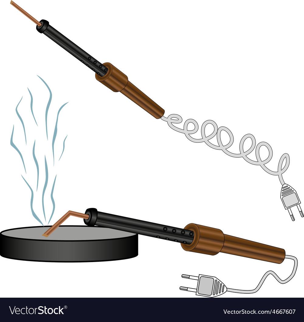 Soldering iron vector | Price: 1 Credit (USD $1)