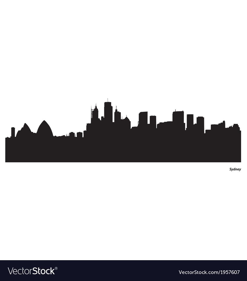 Sydney skyline vector | Price: 1 Credit (USD $1)