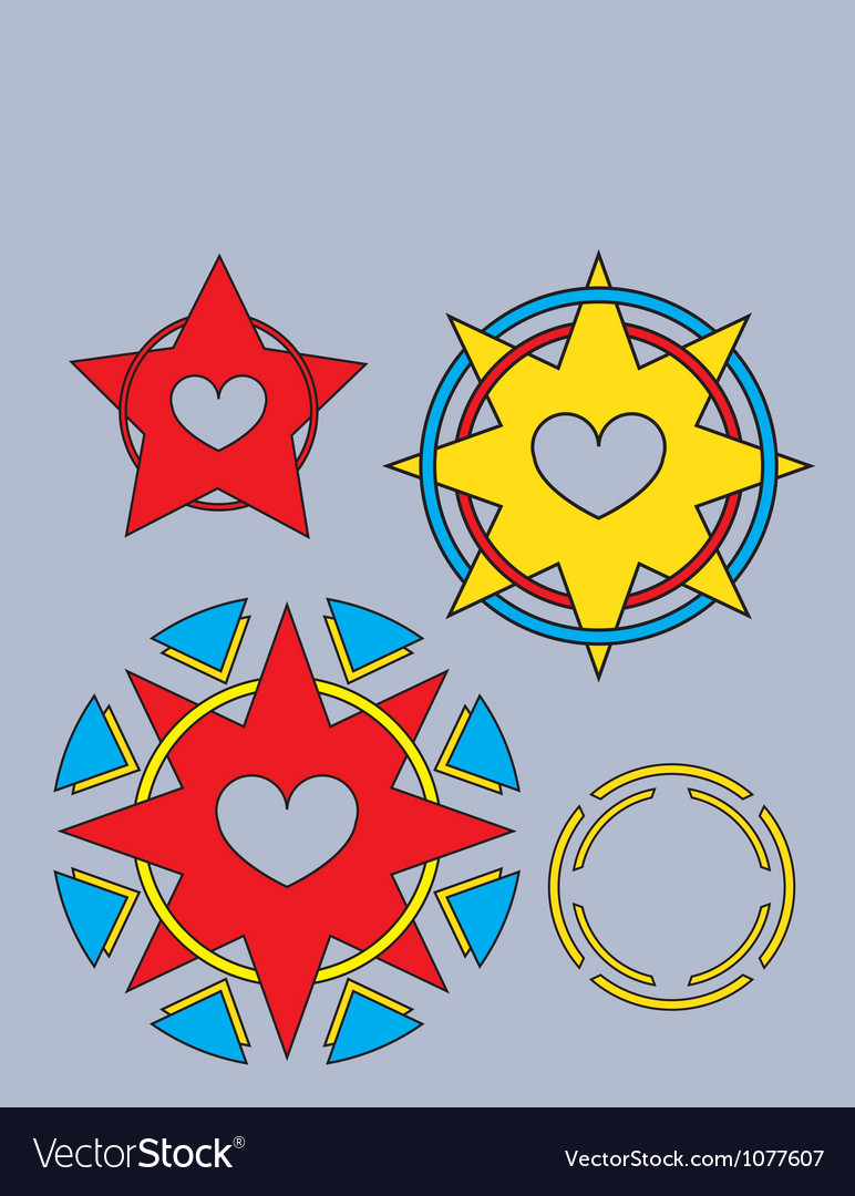 Tribal hearts vector | Price: 1 Credit (USD $1)