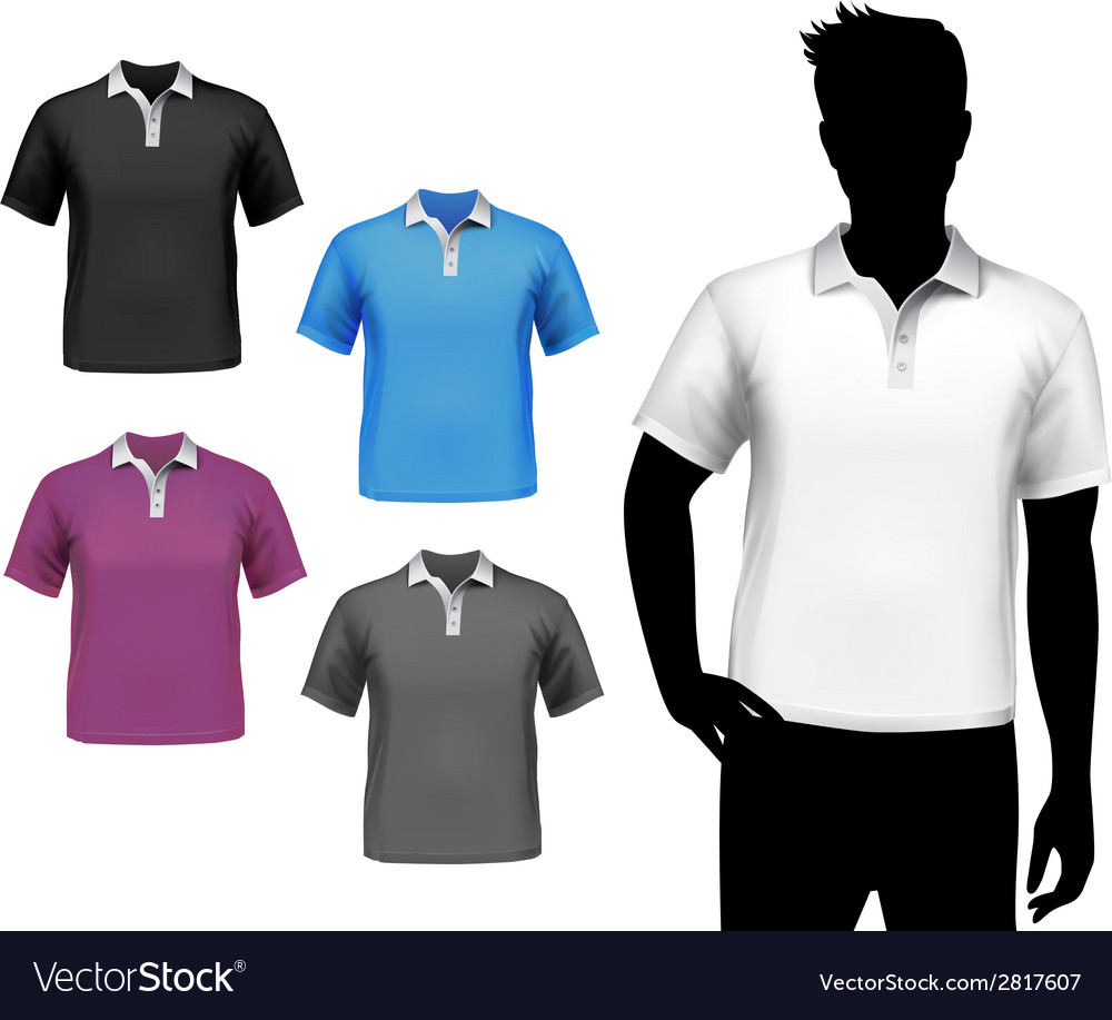 T-shirts male polo set vector | Price: 1 Credit (USD $1)