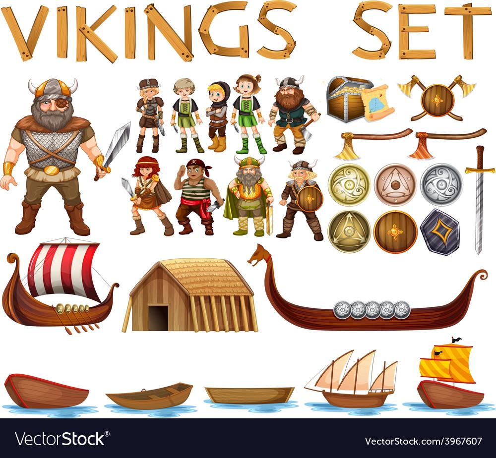 Vikings vector | Price: 3 Credit (USD $3)