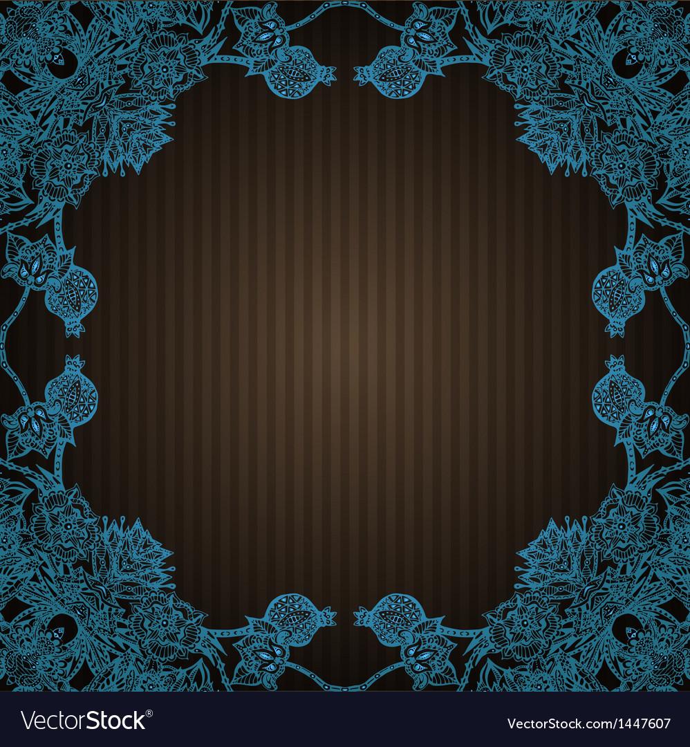 Vintage flourish doodle frame vector