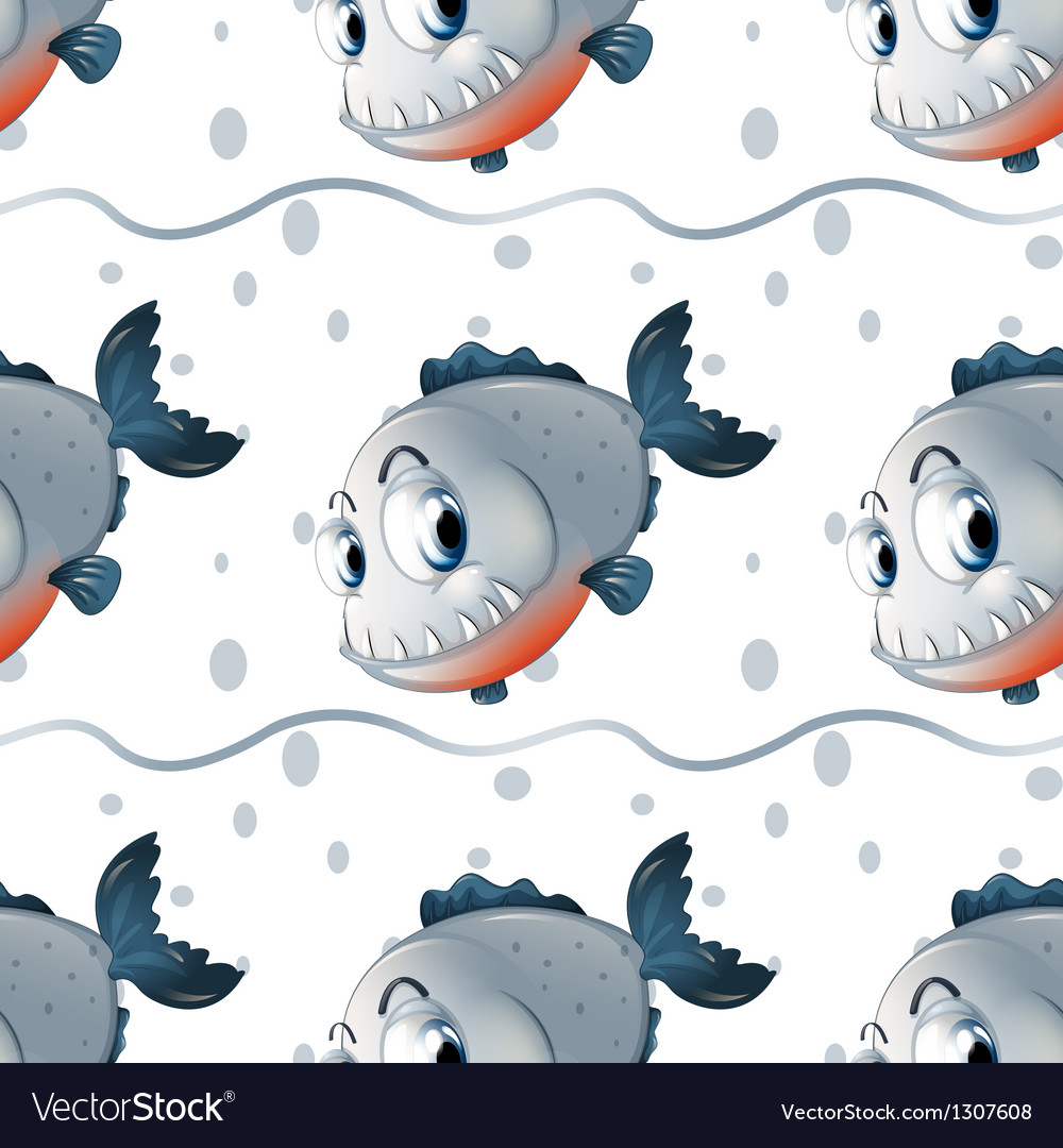 A wallpaper design with big fishes vector | Price: 1 Credit (USD $1)