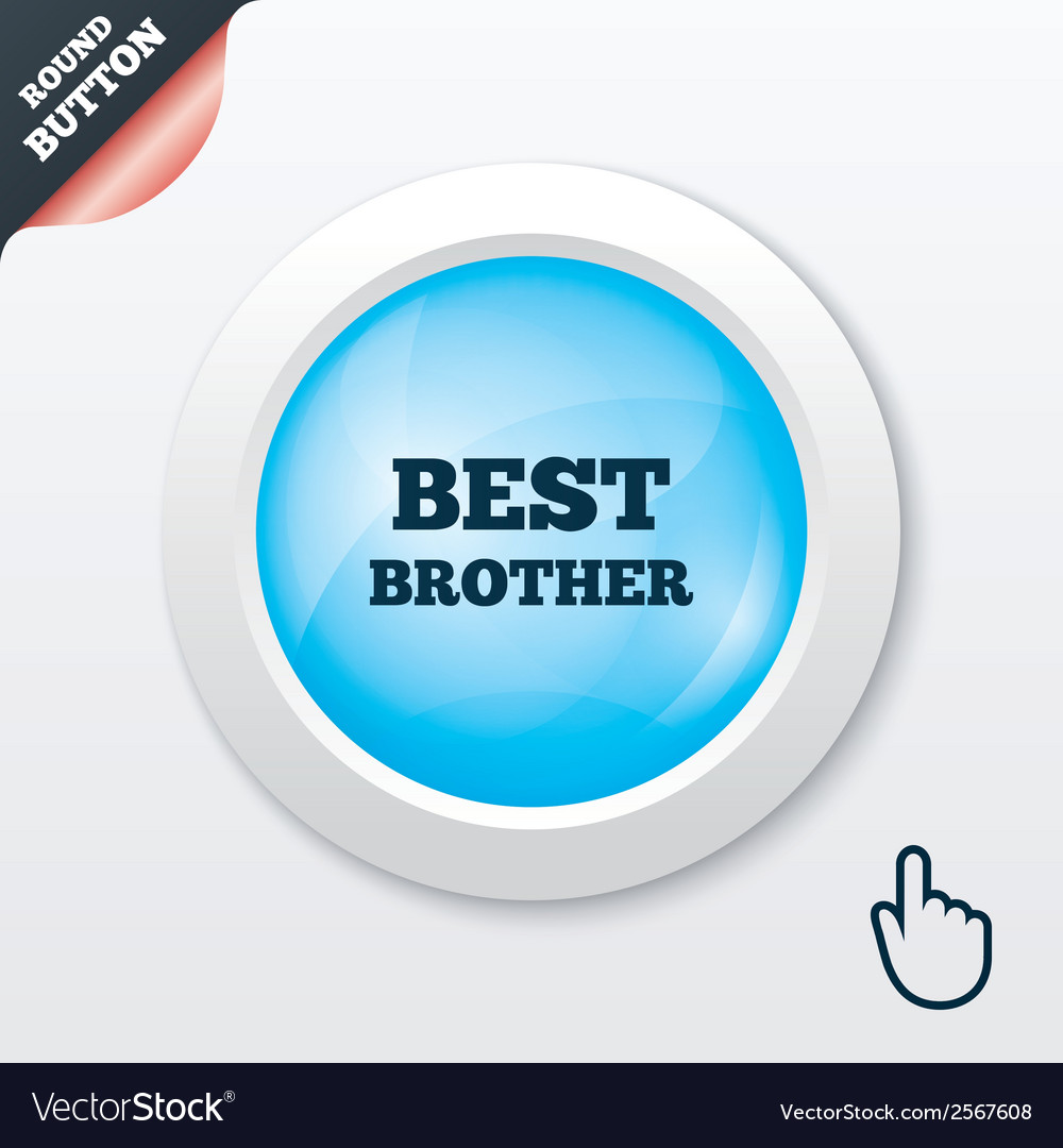 Best brother sign icon award symbol vector | Price: 1 Credit (USD $1)