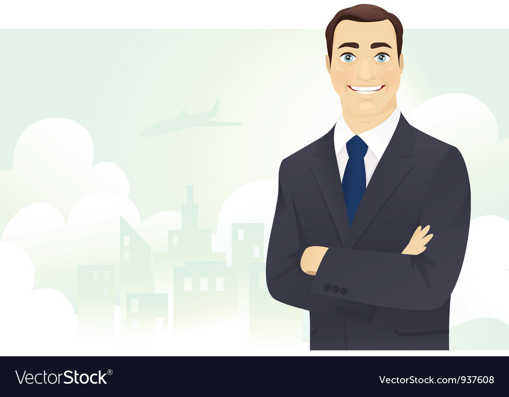 Cheerful businessman vector | Price: 3 Credit (USD $3)