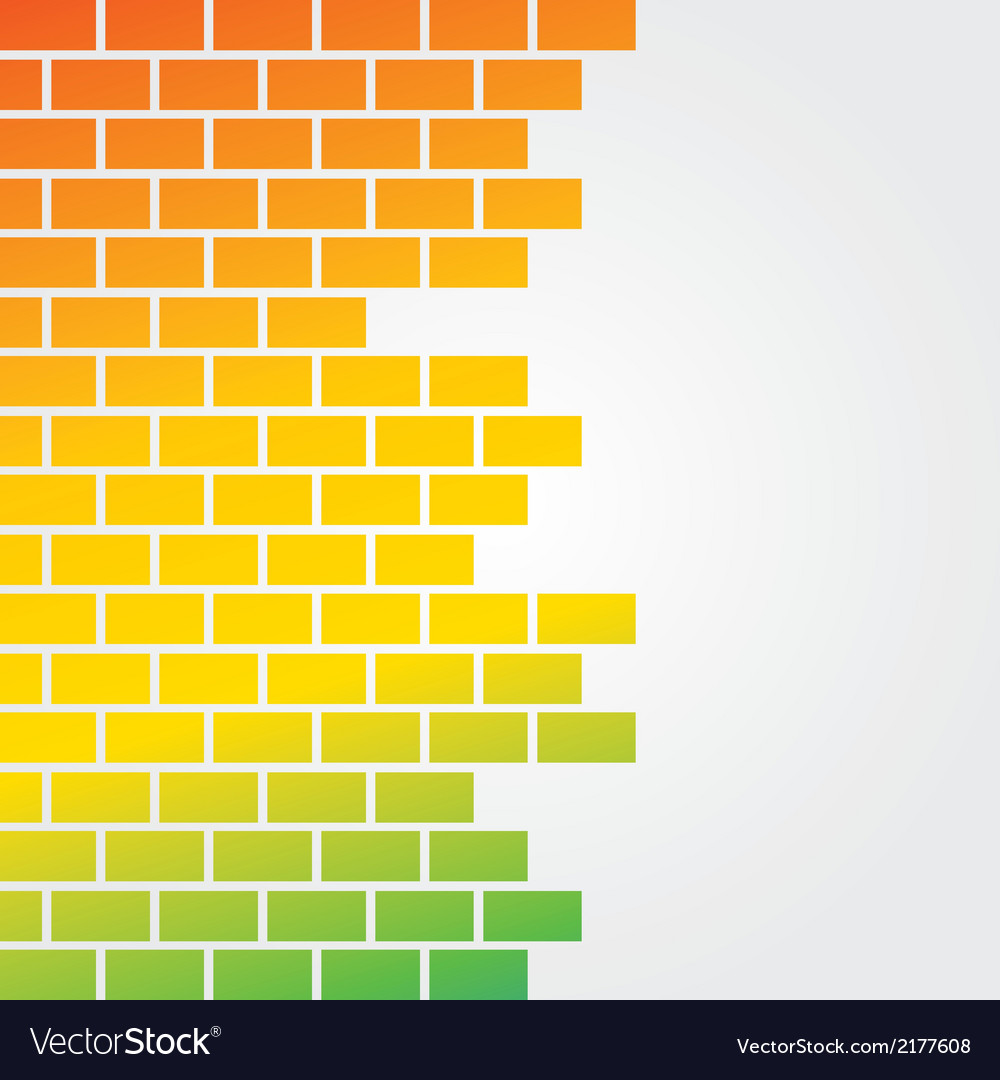 Colorful brick background vector | Price: 1 Credit (USD $1)