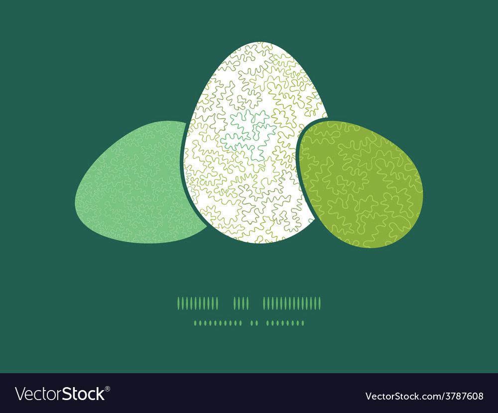 Curly doodle shapes three matching easter vector | Price: 1 Credit (USD $1)