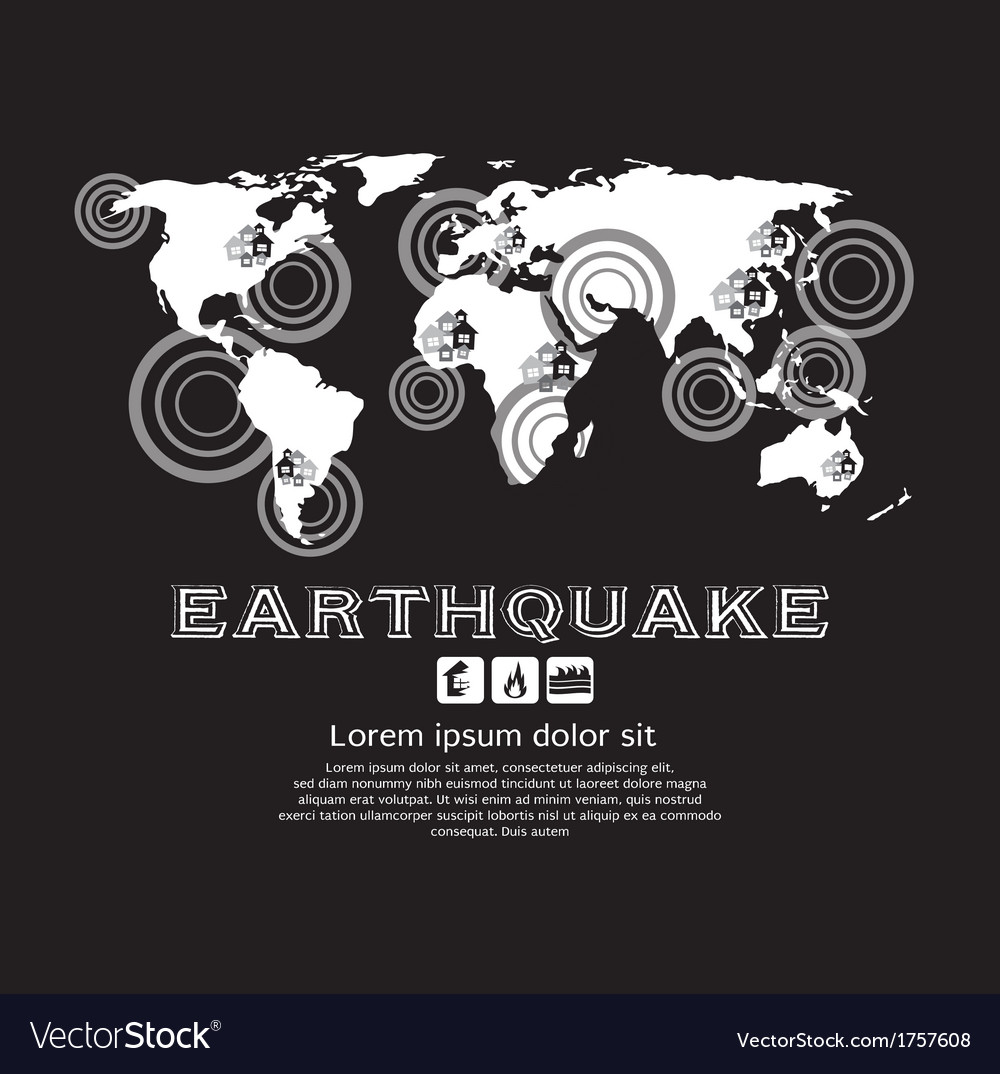 Earthquake vector | Price: 1 Credit (USD $1)