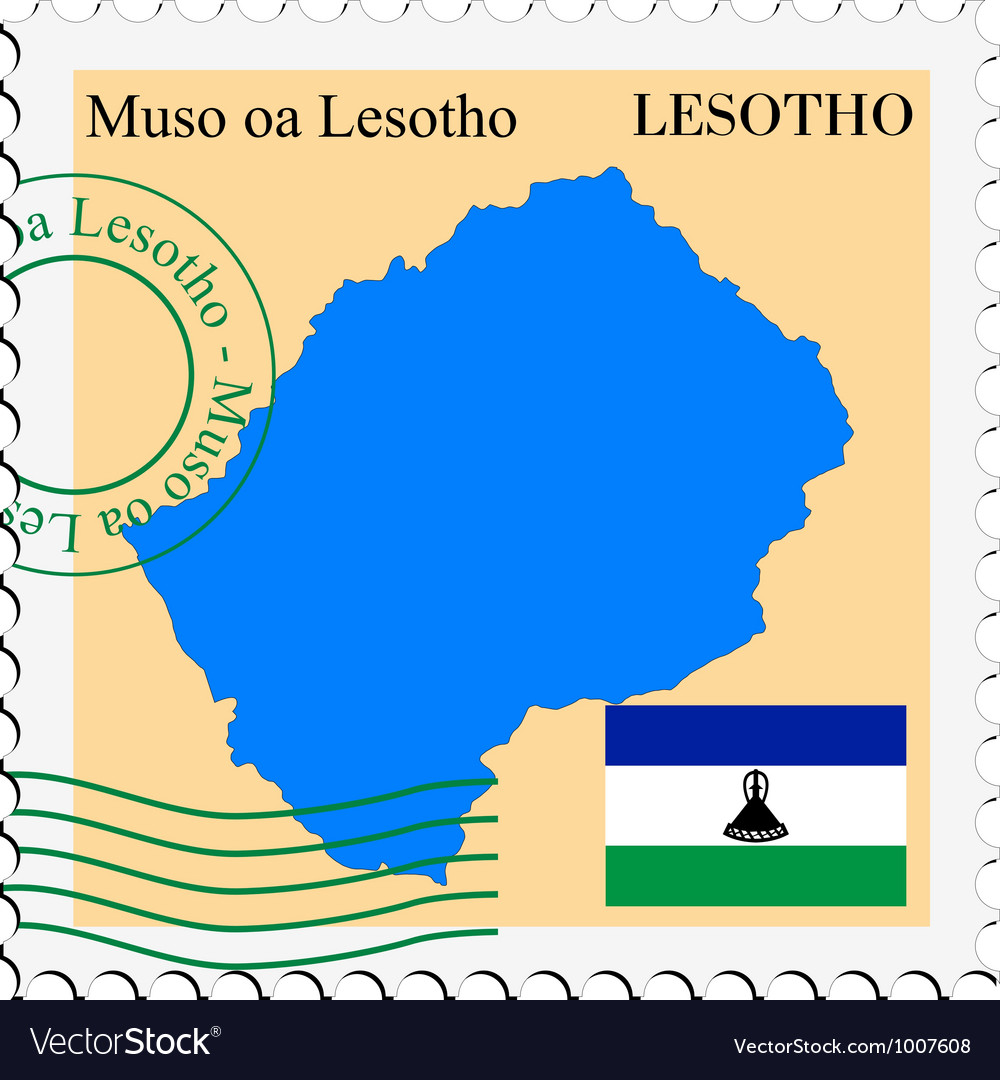 Mail to-from lesotho vector | Price: 1 Credit (USD $1)