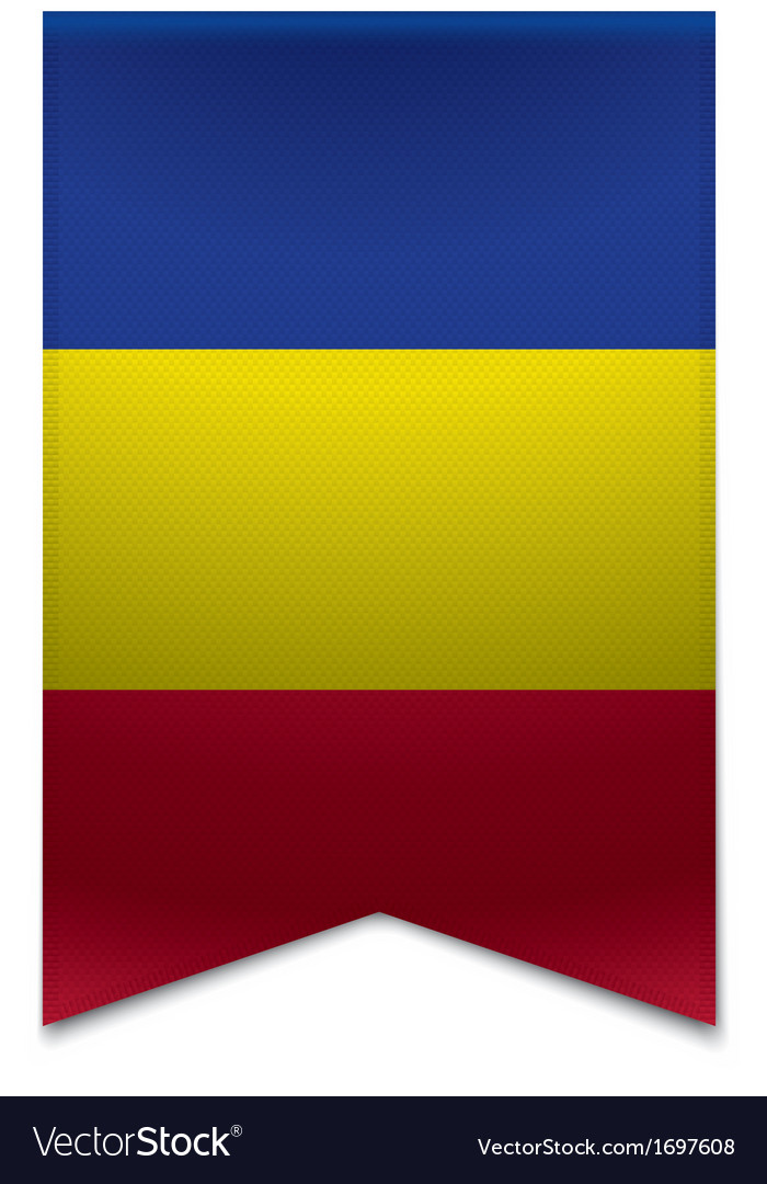 Ribbon banner - andorran flag vector | Price: 1 Credit (USD $1)