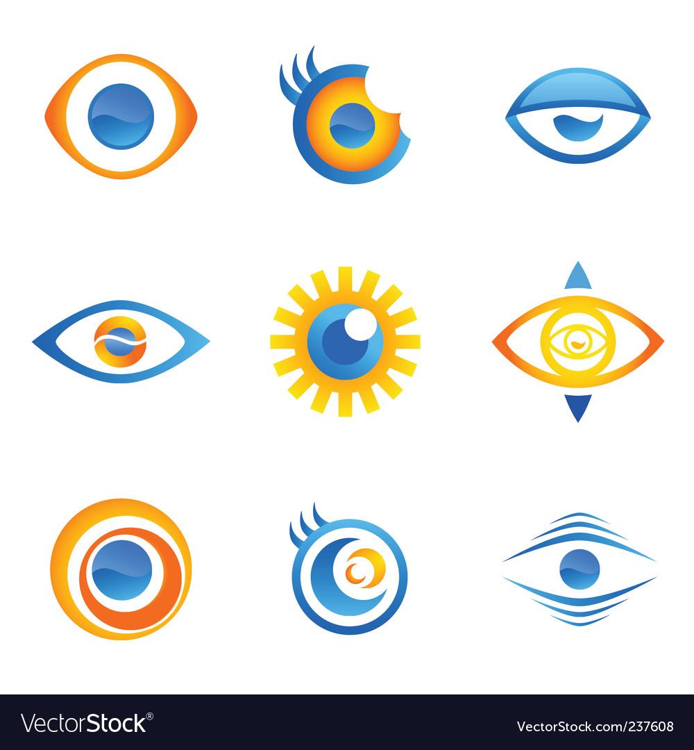 Set of eye symbols vector   Price: 1 Credit (USD $1)