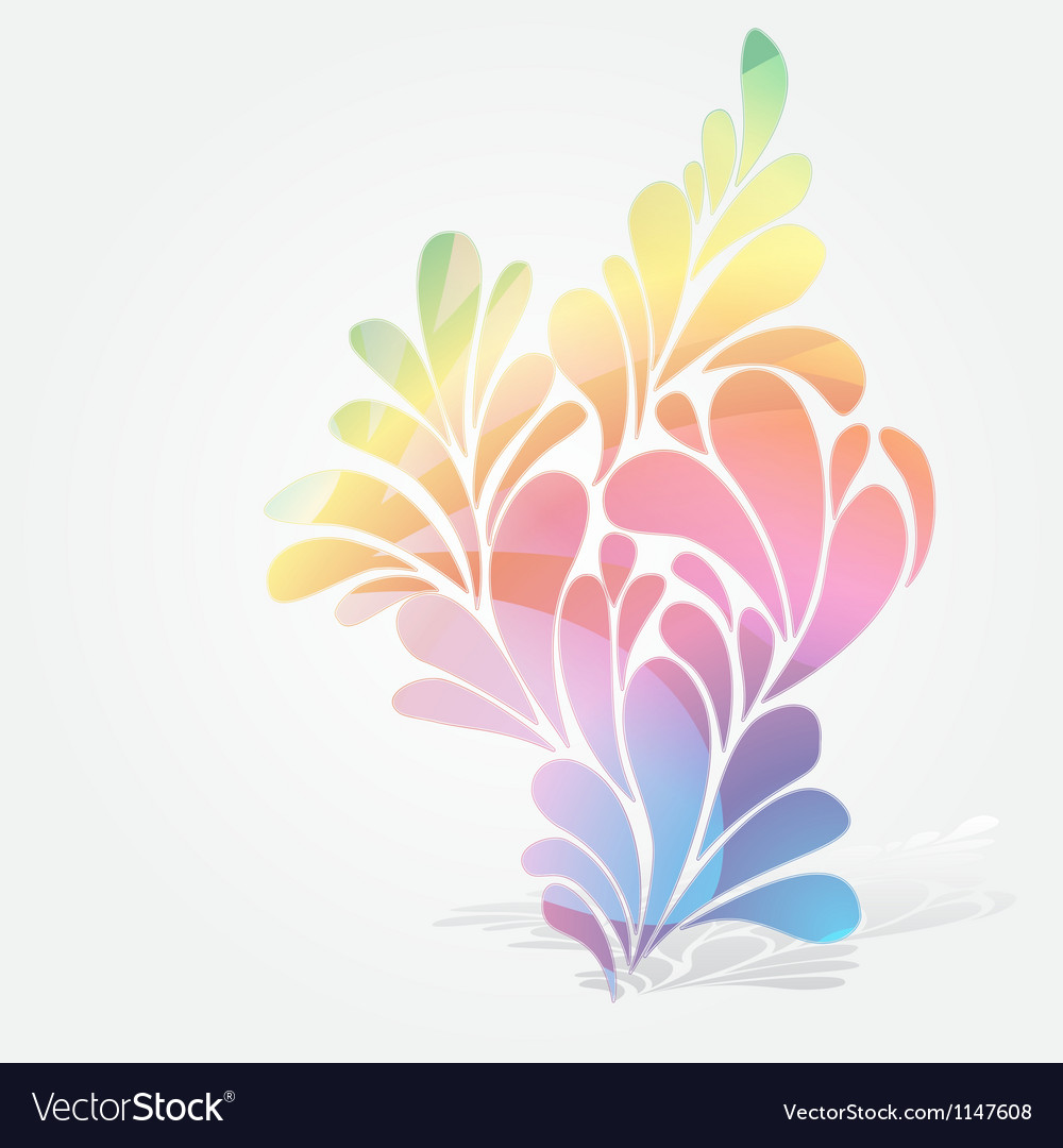 Splash of floral and ornamental drops background vector | Price: 1 Credit (USD $1)