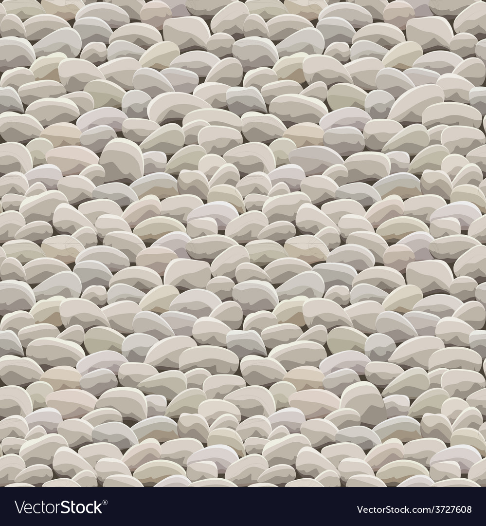 Stone rock ground seamless vector