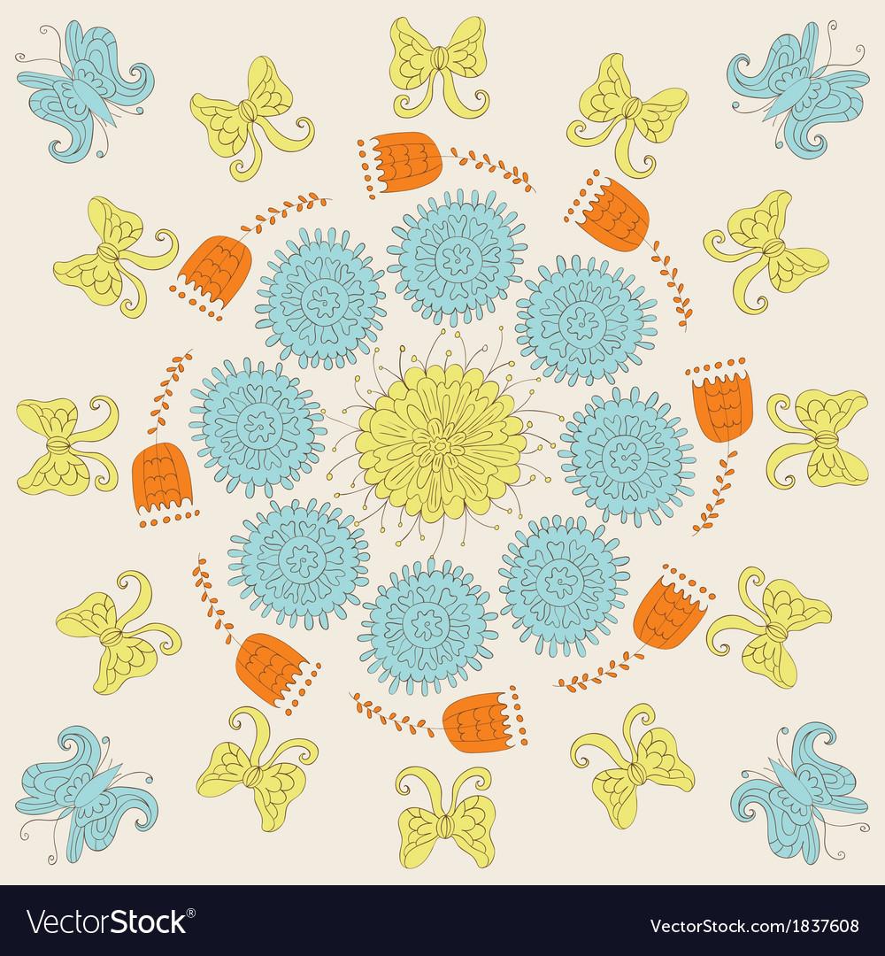Sunny ornament vector | Price: 1 Credit (USD $1)