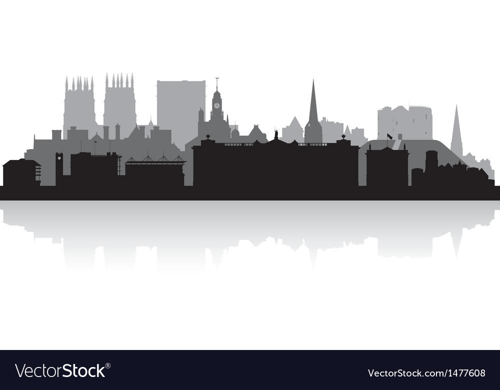 York city skyline silhouette vector | Price: 1 Credit (USD $1)