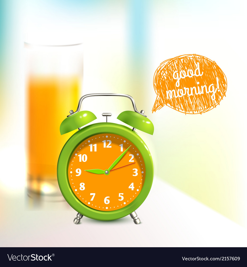 Alarm clock background vector | Price: 1 Credit (USD $1)