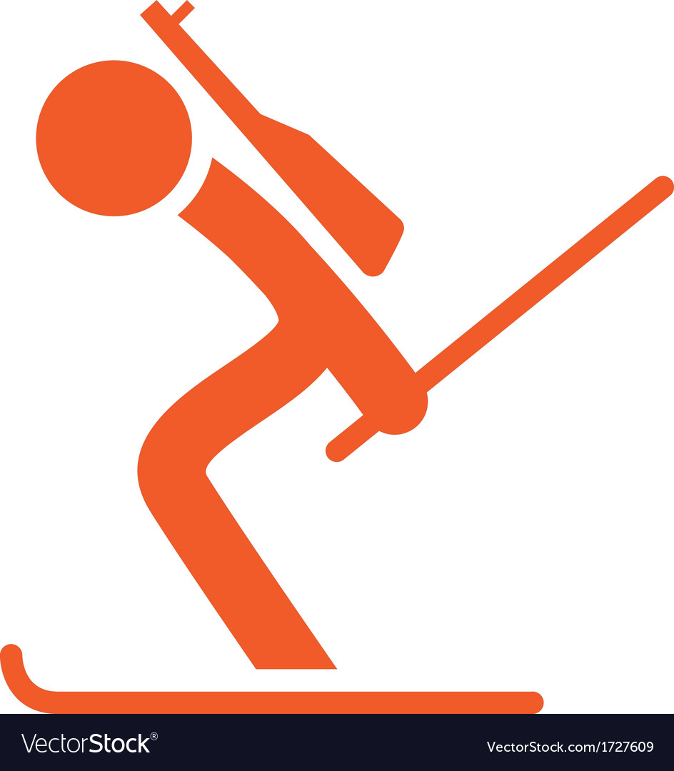 Biatlon icon vector | Price: 1 Credit (USD $1)
