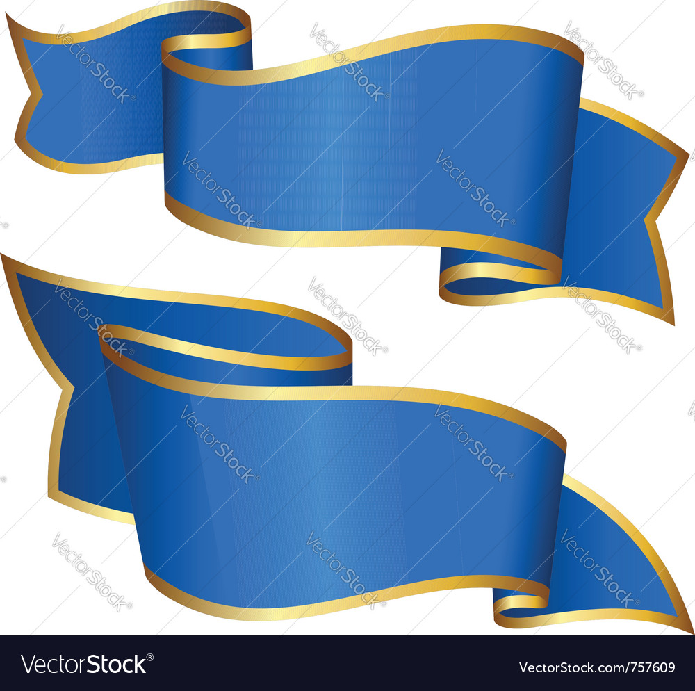 Blue ribbon collection vector | Price: 1 Credit (USD $1)
