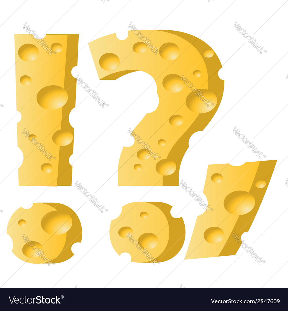 Cheese question mark vector | Price: 1 Credit (USD $1)