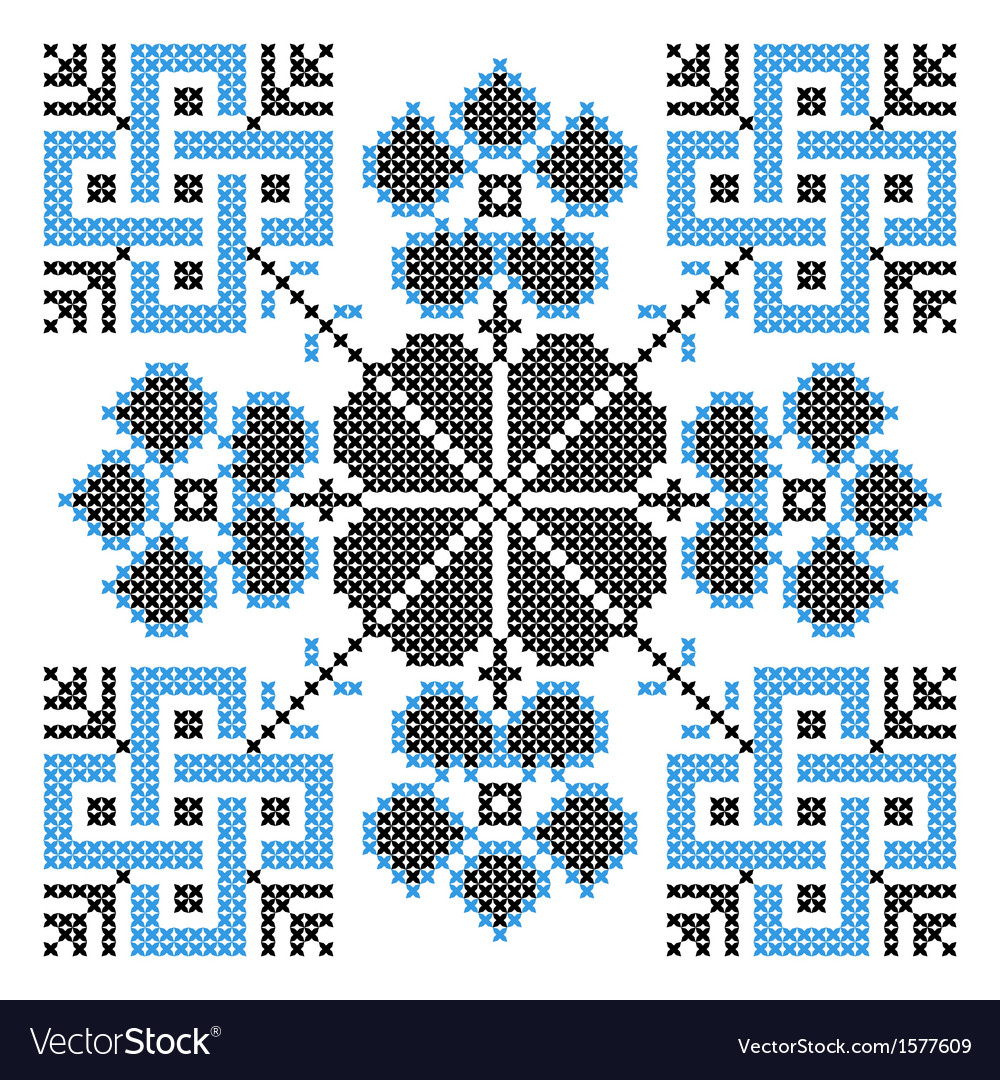 Embroidery ornament vector | Price: 1 Credit (USD $1)