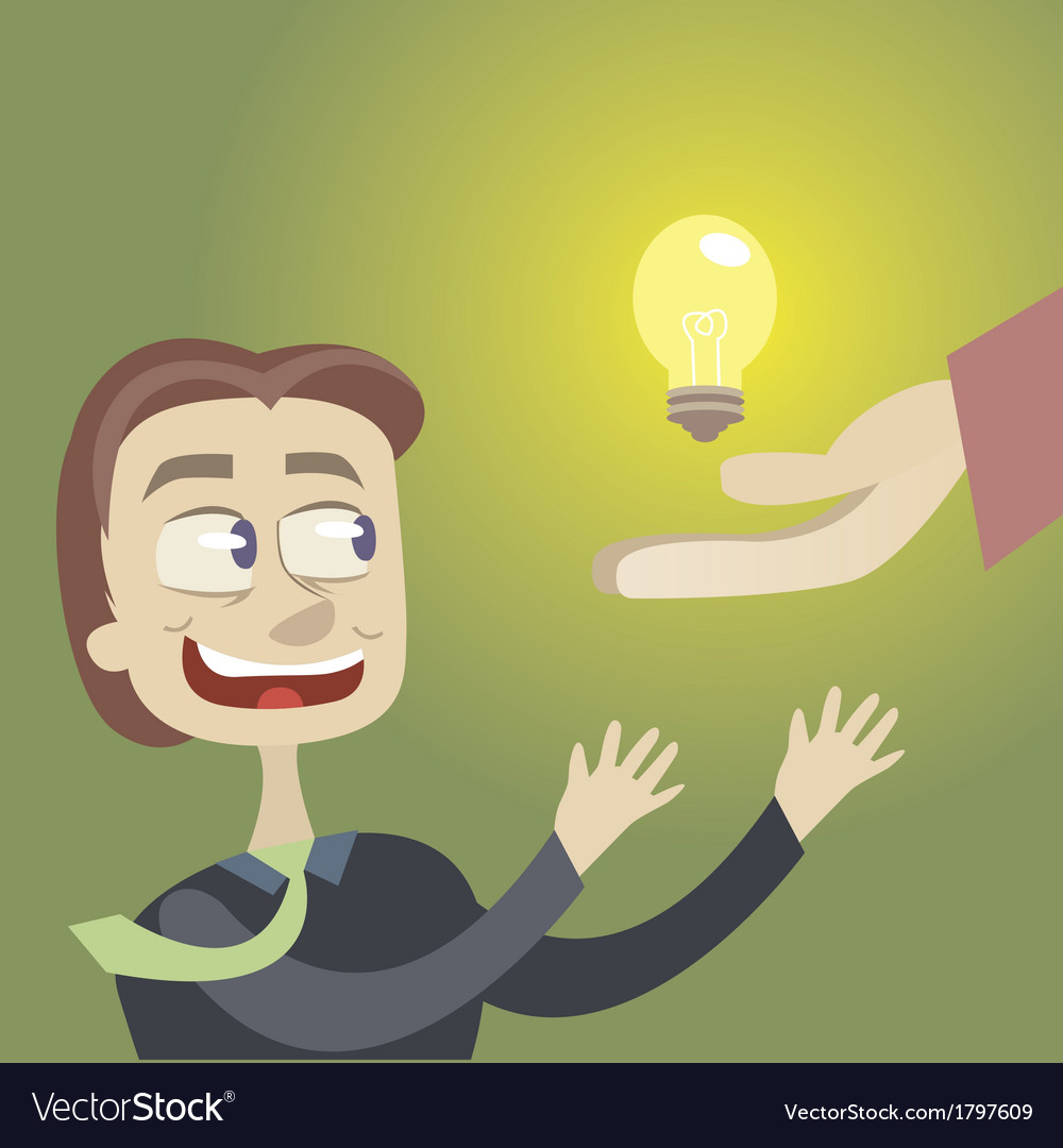 It is a brilliant idea vector | Price: 1 Credit (USD $1)