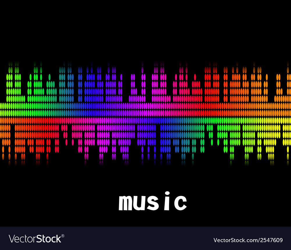 Music colorful equaliser bar in black background vector | Price: 1 Credit (USD $1)