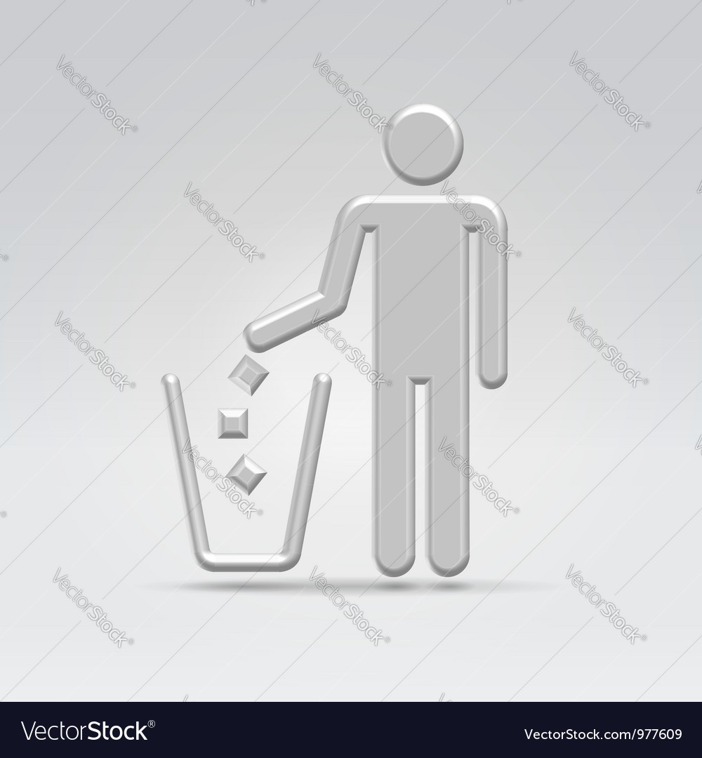 Person throws garbage vector | Price: 1 Credit (USD $1)