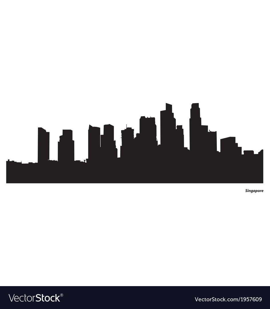 Singapore skyline vector | Price: 1 Credit (USD $1)