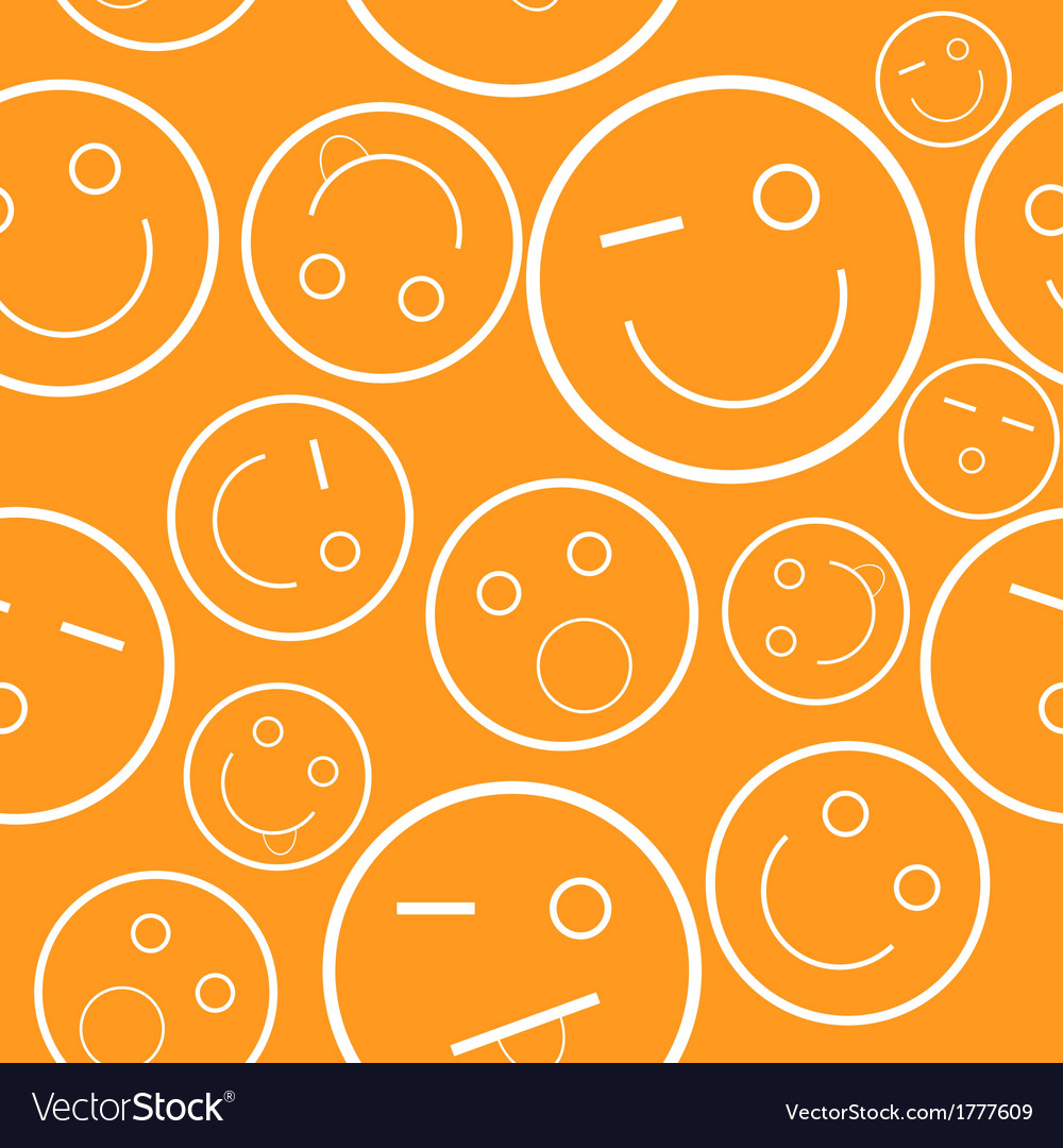 Smile seamless pattern vector | Price: 1 Credit (USD $1)