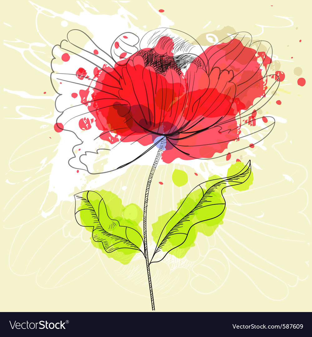 Stylized flower vector | Price: 1 Credit (USD $1)