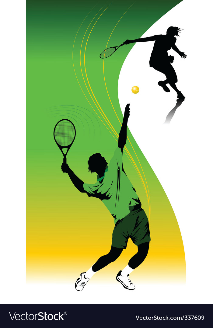 Tennis template vector | Price: 1 Credit (USD $1)