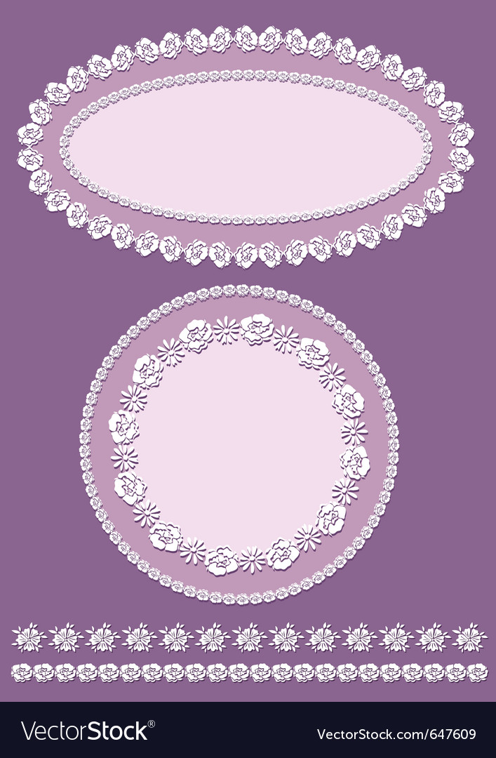 Vintage border and frame set vector | Price: 1 Credit (USD $1)