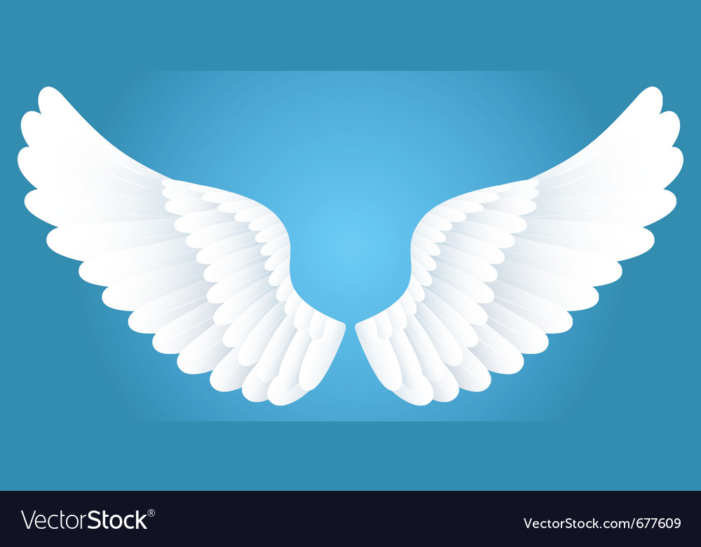 White wings vector | Price: 1 Credit (USD $1)