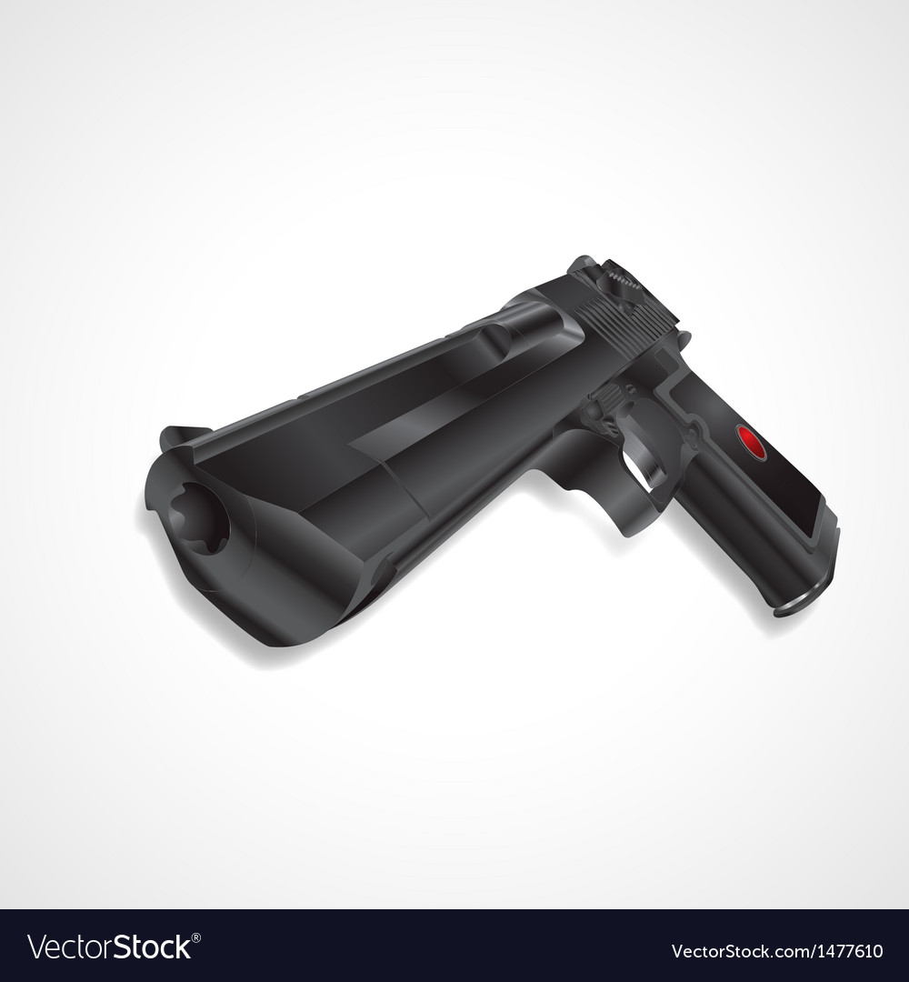 Black pistol handgun vector | Price: 1 Credit (USD $1)