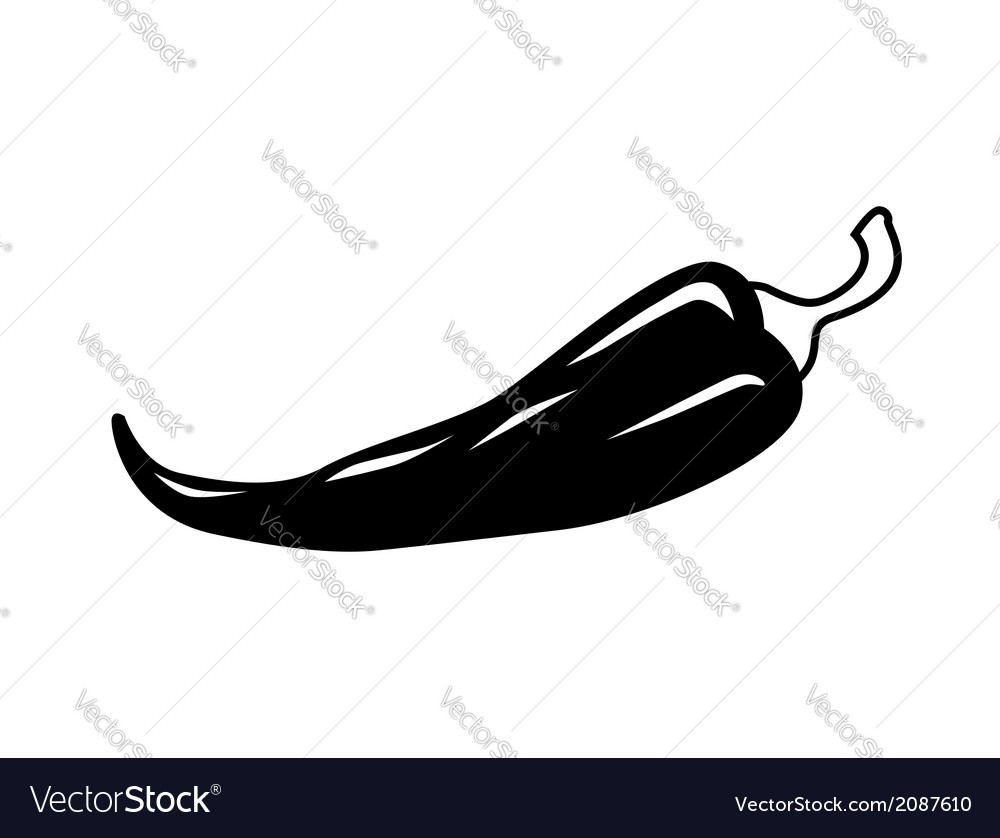 Chilli pepper icon vector | Price: 1 Credit (USD $1)