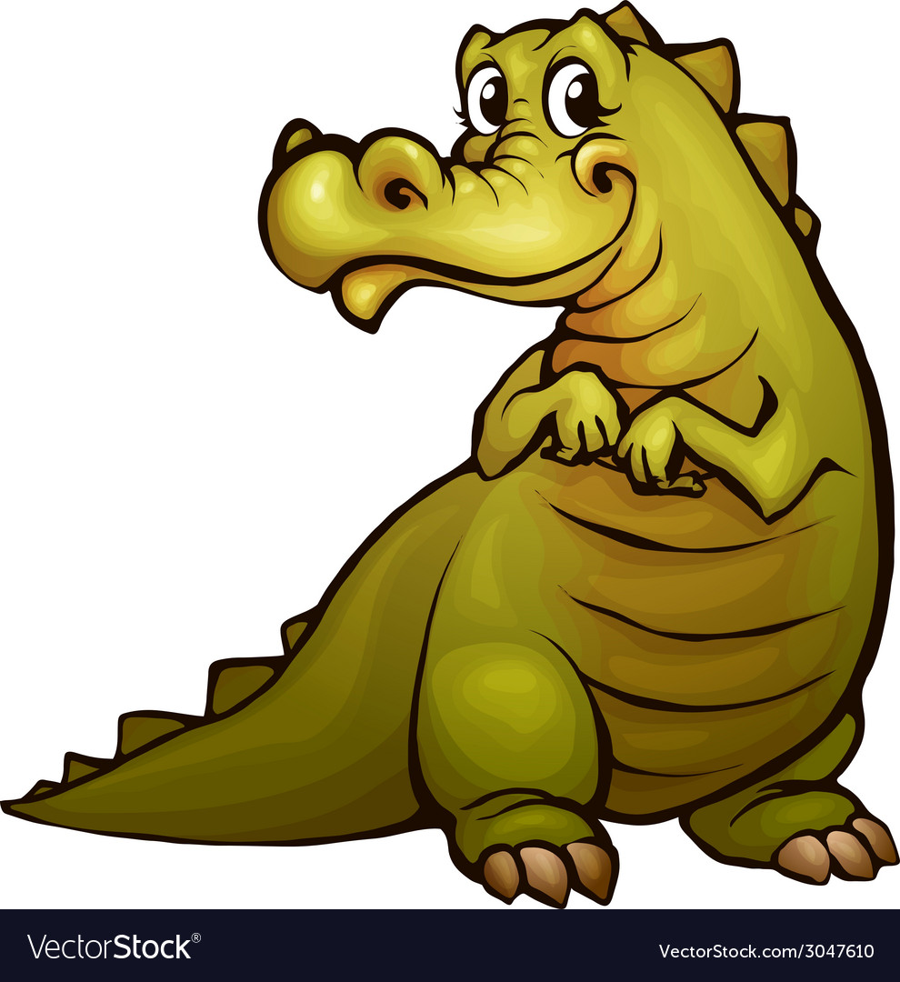Crocodile in cartoon style vector | Price: 3 Credit (USD $3)