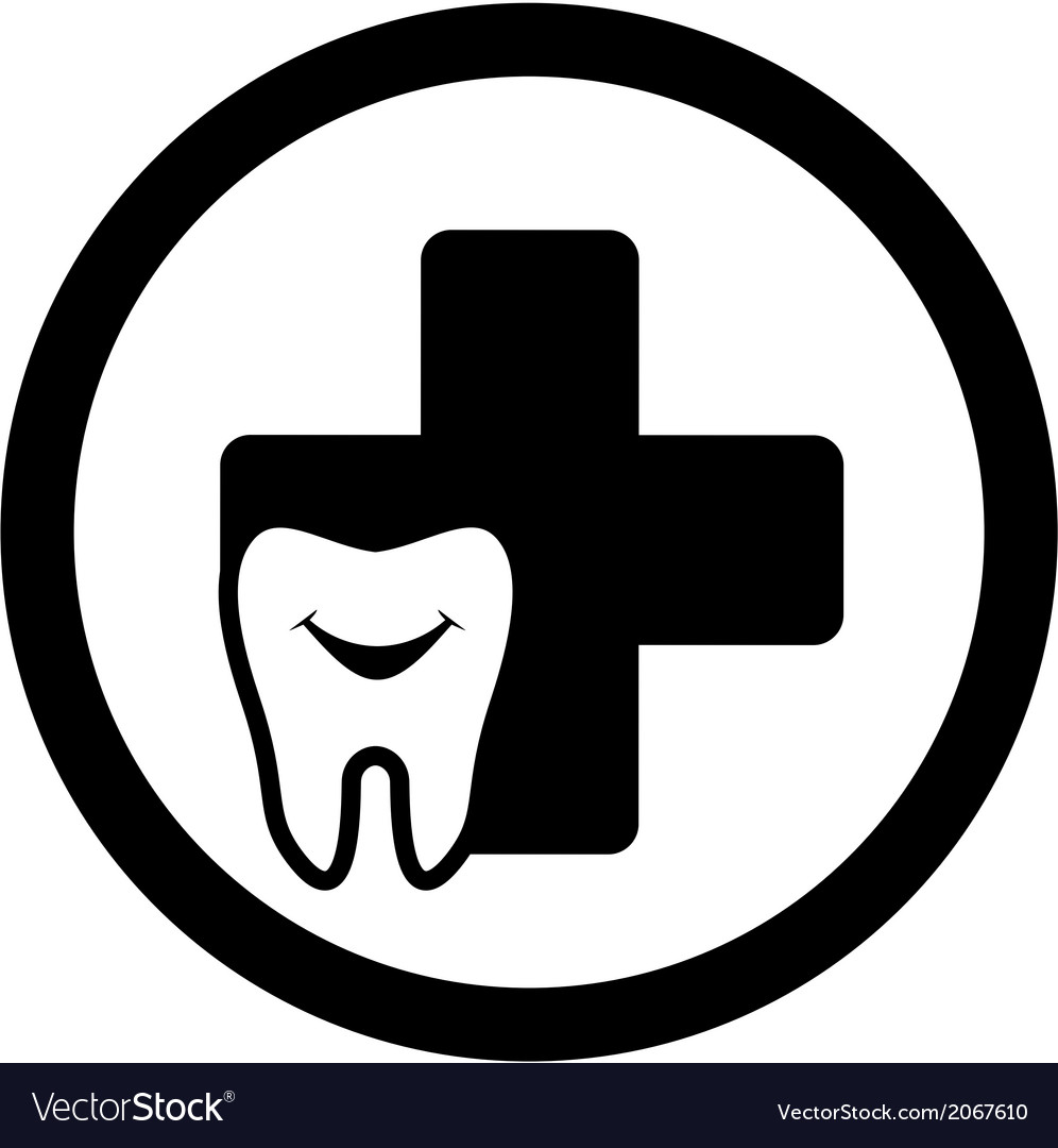 Dental medicine icon with smile tooth vector | Price: 1 Credit (USD $1)