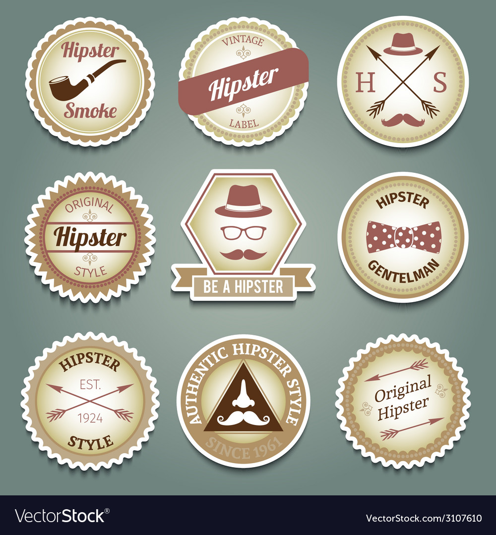 Hipster paper labels vector | Price: 1 Credit (USD $1)