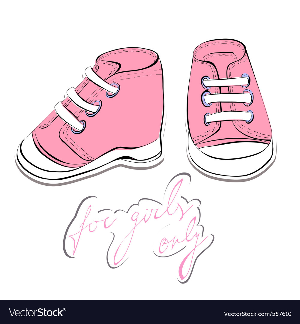 Pair pink shoes vector | Price: 1 Credit (USD $1)