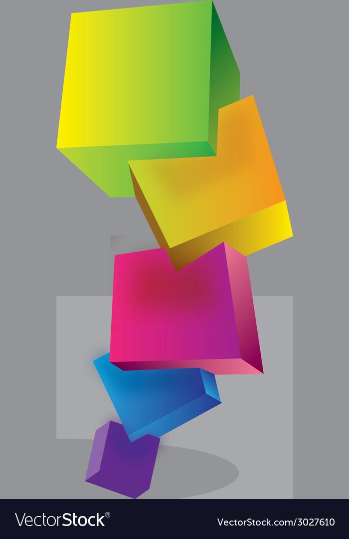 Pyramid of cubes vector